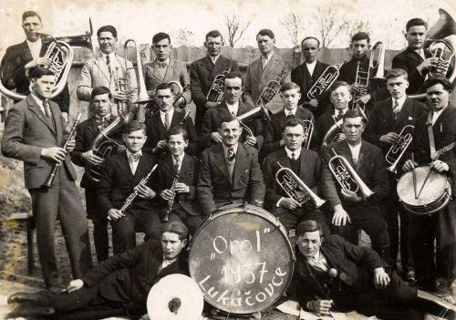 Lukáčovská dychová hudba v roku 1937