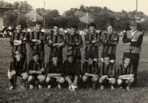 Futbal v obci v roku 1970