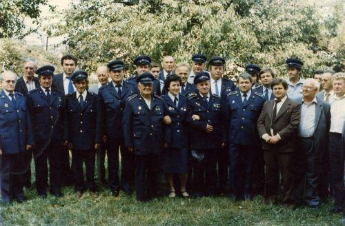Predstavitelia obce a široká členská základňa požiarnikov